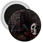 Goth Skull and Blood in Dungeon 3  Magnet