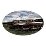 Apocalyptic Pickup Truck in Field Magnet (Oval)