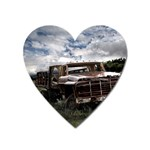 Apocalyptic Pickup Truck in Field Magnet (Heart)