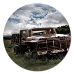 Apocalyptic Pickup Truck in Field Magnet 5  (Round)