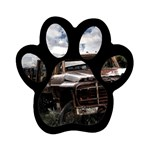 Apocalyptic Pickup Truck in Field Magnet (Paw Print)