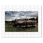 Apocalyptic Pickup Truck in Field Jigsaw Puzzle (Rectangular)