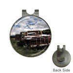 Apocalyptic Pickup Truck in Field Golf Ball Marker Hat Clip