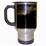 Apocalyptic Pickup Truck in Field Travel Mug (Silver Gray)