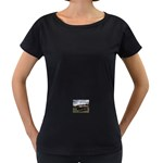 Apocalyptic Pickup Truck in Field Maternity Black T-Shirt