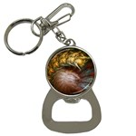 Sleeping Alien Worm Fractal Bottle Opener Key Chain