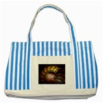 Sleeping Alien Worm Fractal Striped Blue Tote Bag