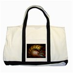 Sleeping Alien Worm Fractal Two Tone Tote Bag
