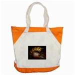 Sleeping Alien Worm Fractal Accent Tote Bag