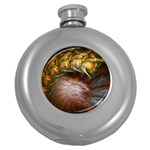 Sleeping Alien Worm Fractal Hip Flask (5 oz)