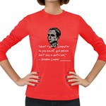 Sheldon - What type of computer... Women s Long Sleeve Dark T-Shirt