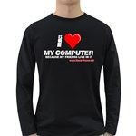 I love my computer Long Sleeve Dark T-Shirt