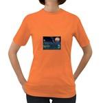 Goth Moonbathing Skull and Dolphin Women s Dark T-Shirt
