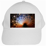 Peacock Bubbles Fractal Fantasy White Cap