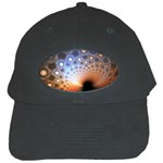 Peacock Bubbles Fractal Fantasy Black Cap