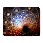 Peacock Bubbles Fractal Fantasy Small Mousepad