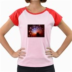 Peacock Bubbles Fractal Fantasy Women s Cap Sleeve T-Shirt