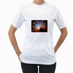 Peacock Bubbles Fractal Fantasy Women s T-Shirt