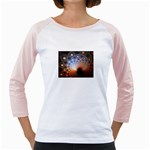 Peacock Bubbles Fractal Fantasy Girly Raglan