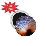 Peacock Bubbles Fractal Fantasy 1.75  Magnet (100 pack)