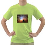 Peacock Bubbles Fractal Fantasy Green T-Shirt