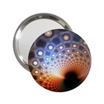 Peacock Bubbles Fractal Fantasy 2.25  Handbag Mirror