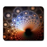 Peacock Bubbles Fractal Fantasy Large Mousepad