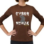 CYBER NINJA Women s Long Sleeve Dark T-Shirt