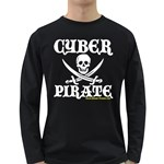 Cyber Pirate  Long Sleeve Dark T-Shirt