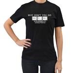 Control Alt Delete Yourself Women s Black T-Shirt