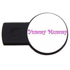 Yummy Mummy  USB Flash Drive Round (2 GB) from SnappyGifts.co.uk Front