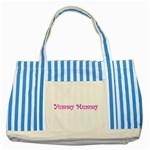 Yummy Mummy  Striped Blue Tote Bag