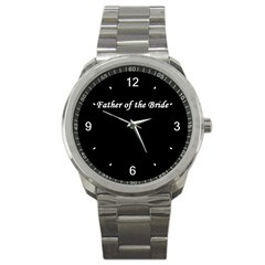 Father of the Bride Sport Metal Watch from SnappyGifts.co.uk Front