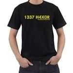 1337 H4x04 Black T-Shirt
