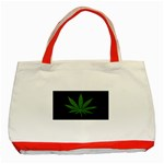 Pot Leaf ^ Classic Tote Bag (Red)