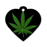 Pot Leaf ^ Dog Tag Heart Necklace (Two Sides)