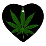 Pot Leaf ^ Heart Ornament (Two Sides)