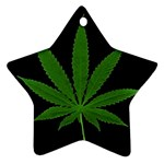 Pot Leaf ^ Star Ornament (Two Sides)