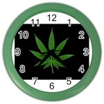 Pot Leaf ^ Color Wall Clock