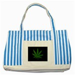 Pot Leaf ^ Striped Blue Tote Bag