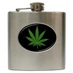 Pot Leaf ^ Hip Flask (6 oz)