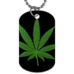 Pot Leaf ^ Dog Tag Necklace (Two Sides)