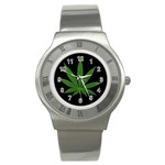 Pot Leaf ^ Stainless Steel Watch