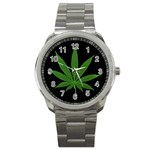 Pot Leaf ^ Sport Metal Watch