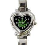 Pot Leaf ^ Heart Italian Charm Watch