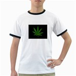 Pot Leaf ^ Ringer T-Shirt