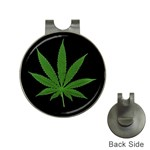 Pot Leaf ^ Golf Ball Marker Hat Clip