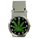 Pot Leaf ^ Money Clip Watch