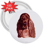 Irish Setter ^ 3  Button (100 pack)