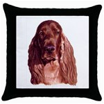 Irish Setter ^ Throw Pillow Case (Black)